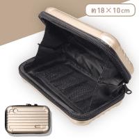 スーツケース型ポーチ ブロンド