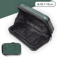 スーツケース型ポーチ モスグリーン