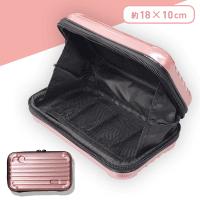 スーツケース型ポーチ ローズゴールド