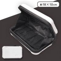 スーツケース型ポーチ オフホワイト
