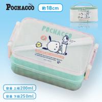 【B.ミントグリーン】ポチャッコ 保冷バッグ付きランチボックス