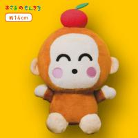 【B.りんご】おさるのもんきちフルーツたべあさる!ぬいぐるみ