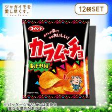 【ジャガイモを愛し尽くす。】湖池屋 カラムーチョチップス ホットチリ味 12個セット